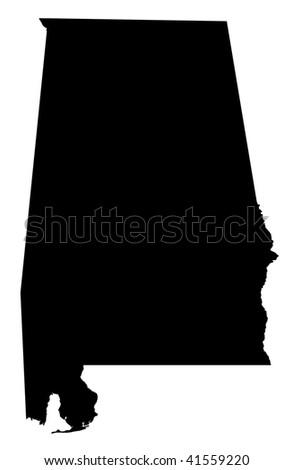 State of Alabama - white background - stock photo