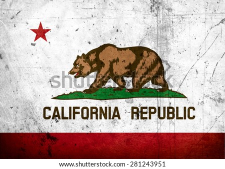 State of California grunge Flag - stock photo