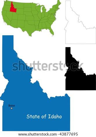 State of Idaho, USA - stock photo