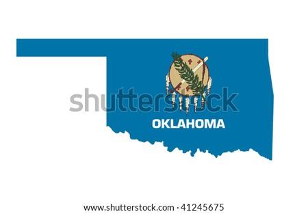 State of Oklahoma - stock photo