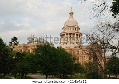 State of Texas Capitol building in Austin southwest view - stock photo
