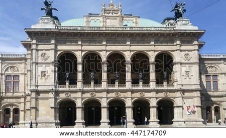 State opera, opera house at Vienna, Wiener Staatsoper - stock photo