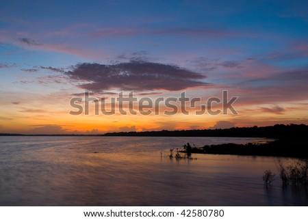 State Park Sunrise - stock photo
