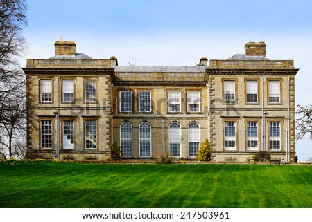 stately home - stock photo