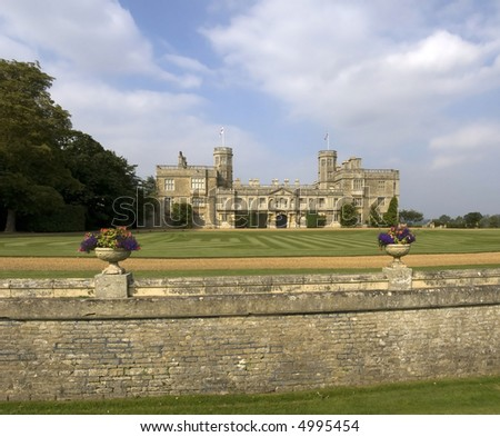 stately home castle ashby northamptonshire midlands england uk - stock photo