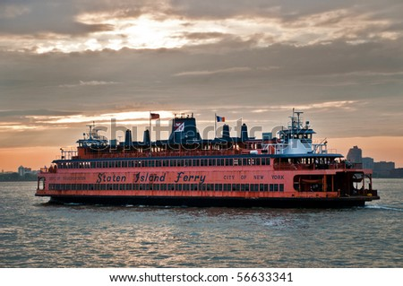 Staten Island Ferry, New York city, USA - stock photo