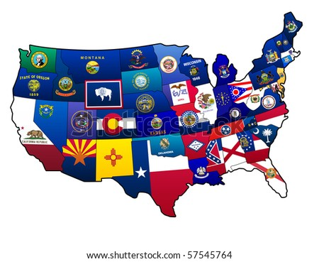 States of United States - stock photo