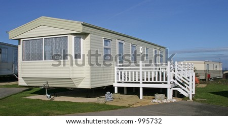 Static caravan - stock photo