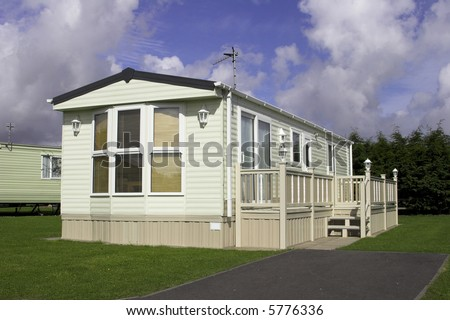 Static Holiday Home - stock photo