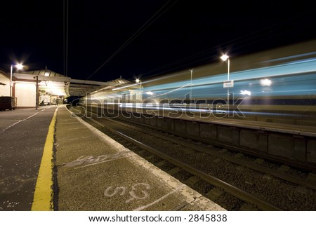 Station at Night - stock photo