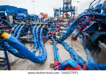 Station for natural gas by hydraulic fracturing method - stock photo