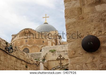 Station Nine, Via Dolorosa, Jerusalem - stock photo