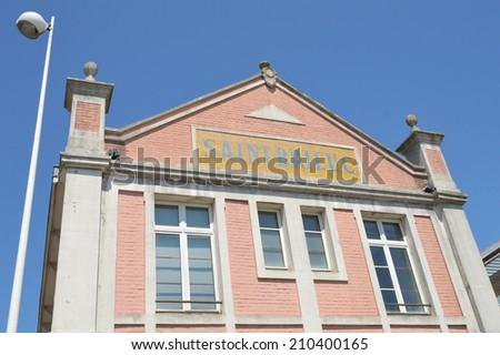 Station Saint Brieuc: Former railway station - Gare des Chemins de fer des Cotes-du-Nord - in the town of Saint Brieuc, Brittany, France - stock photo