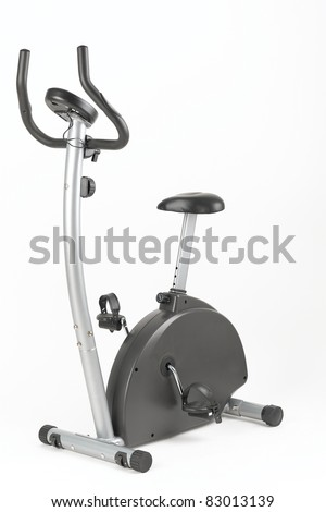 Stationary training bicycle good for exercise at home or gym