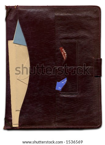 stationary wallet - stock photo