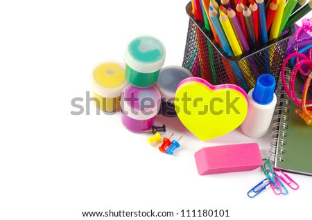 stationery and notebooks - stock photo
