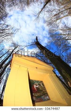 Stations of the cross - stock photo