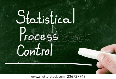 statistical process control - stock photo