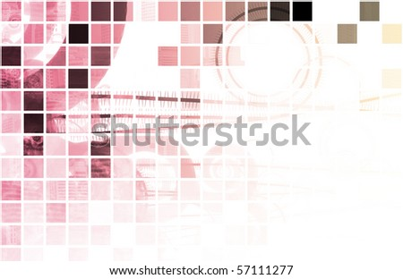 Statistics and Analysis of Data as Background - stock photo