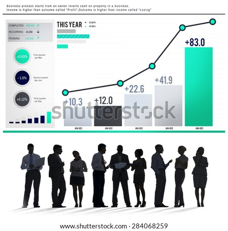 Statistics Data Analysis FInance Success Concept