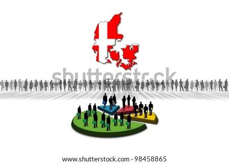 Statistics: Denmark - stock photo