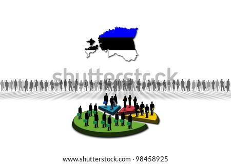 Statistics: Estonia - stock photo