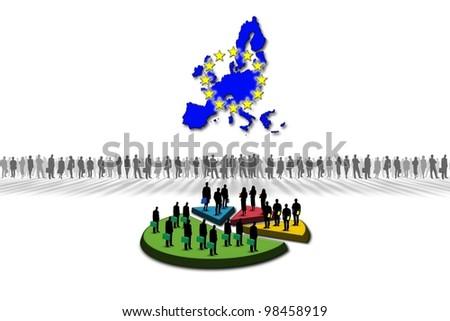 Statistics: European Union - stock photo