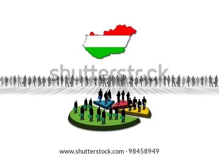 Statistics: Hungary - stock photo
