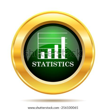 Statistics icon. Internet button on white background.  - stock photo