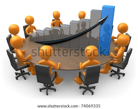 Statistics Meeting - stock photo