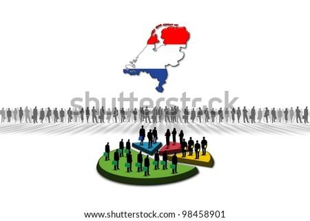Statistics: Netherlands - stock photo