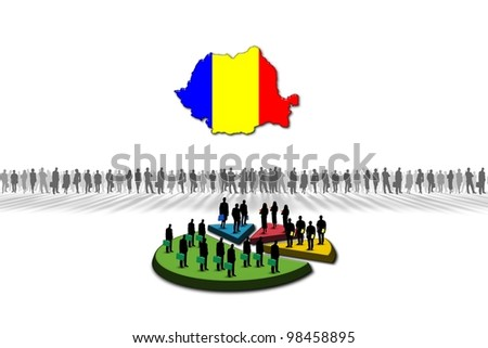 Statistics: Romania - stock photo