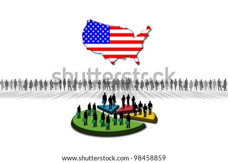 Statistics: United States - stock photo