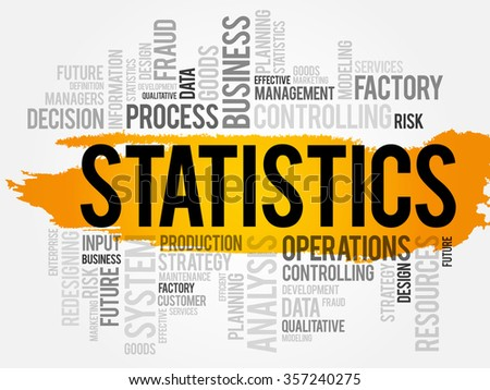 STATISTICS word cloud, business concept background - stock photo