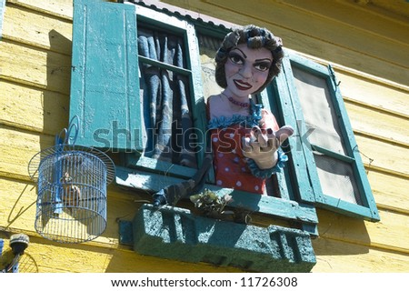Statue at La Boca,Argentina - stock photo