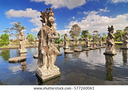 Statue tirtagangga water palace bali indonesia stock photo edit now statue at the tirtagangga water palace in bali indonesia stopboris Gallery