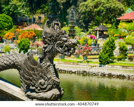 Statue at the Water Garden Bali, Indonesia - stock photo
