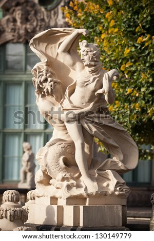 statue at zwinger, Dresden - stock photo