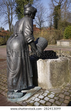 Statue bath woman in Bad Meinberg