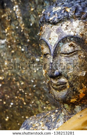 Statue buddha in the temple, thailand - stock photo