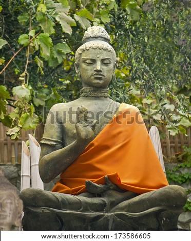 Statue Buddhism. - stock photo