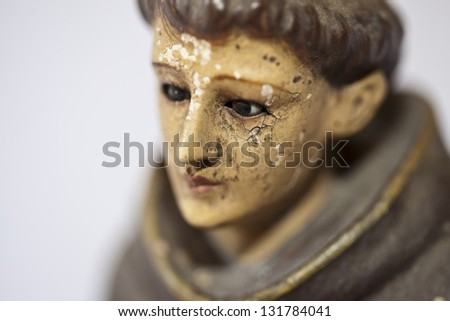 Statue close up of St Anthony / St. Anthony - stock photo