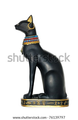 Statue Egypt Cat - stock photo