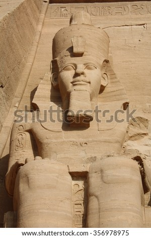 STATUE IN ABU SIMBEL - stock photo