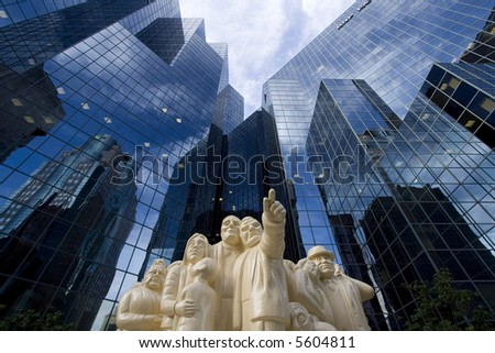 Statue in Montreal - stock photo
