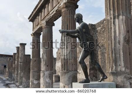 Statue in Pompei, Italy - stock photo