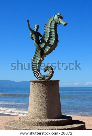 Statue in Puerto Vallarta, Mexico - stock photo