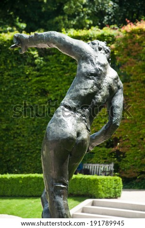 Statue in Rodin Museum in Paris - stock photo