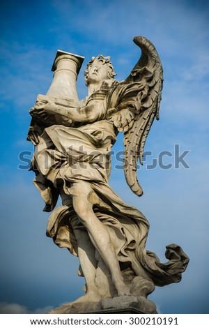 Statue in Rome - stock photo