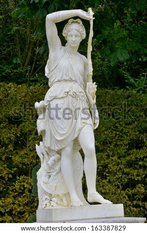 Statue in the garden of Versaille palace France